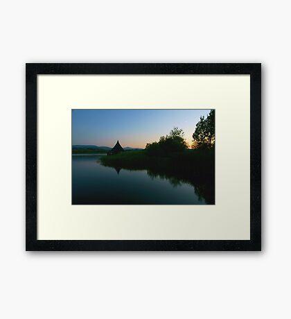 Llangorse Lake - 10pm Framed Print