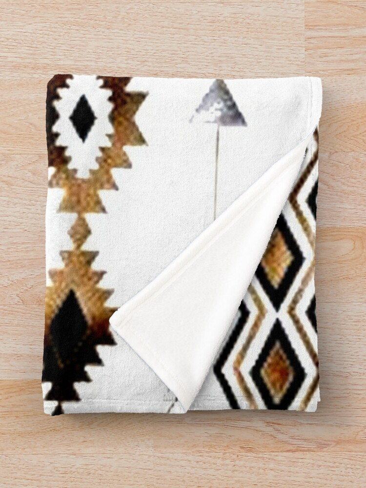 Vista alternativa de Manta Tribal Aztec Gold y Black Design