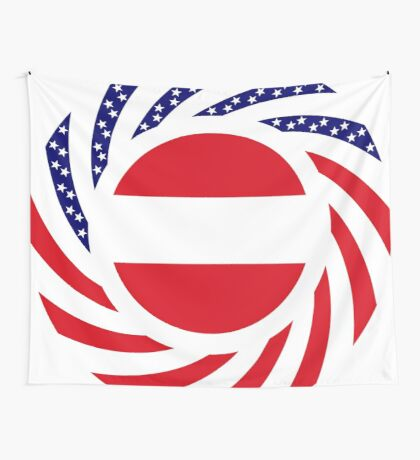Austrian American Multinational Patriot Flag Series Wall Tapestry