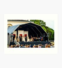 La Traviata at Chiswick House Opera bathed in the evening sun Art Print