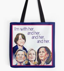 Ich bin bei ihr und ihr und ihr und ihr Tasche