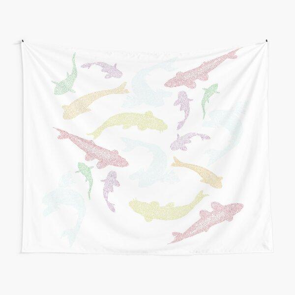 Swimming Koi School Tapestry