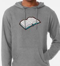 Bookish Reading Pattern in Jade Lightweight Hoodie