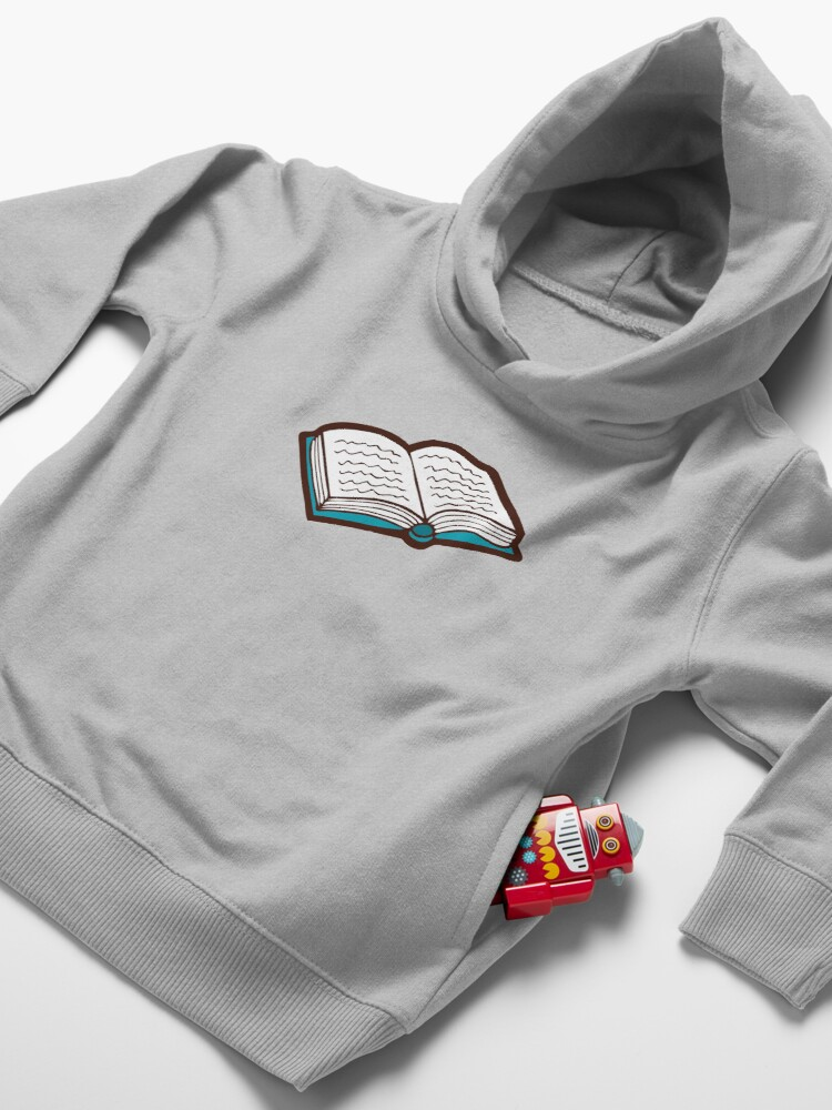 Alternate view of Bookish Reading Pattern in Jade Toddler Pullover Hoodie