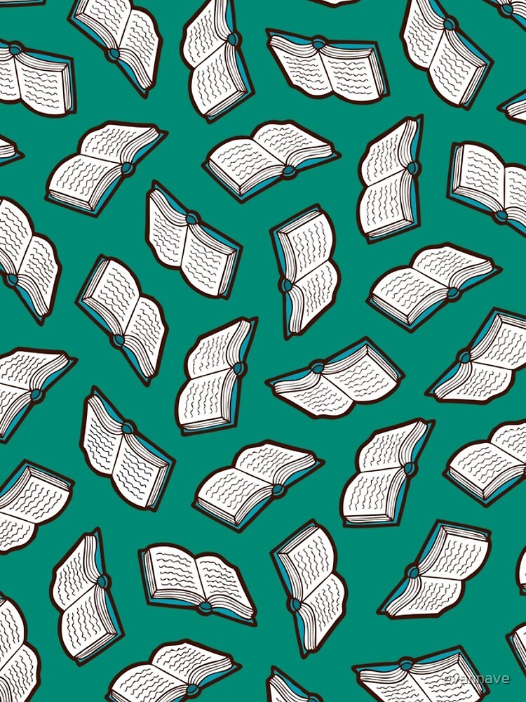 Bookish Reading Pattern in Jade by evannave