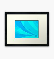 Abstract blue composition Framed Print