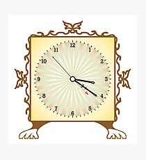 Abstract clock Photographic Print