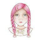cute girl with pink hair by trudette
