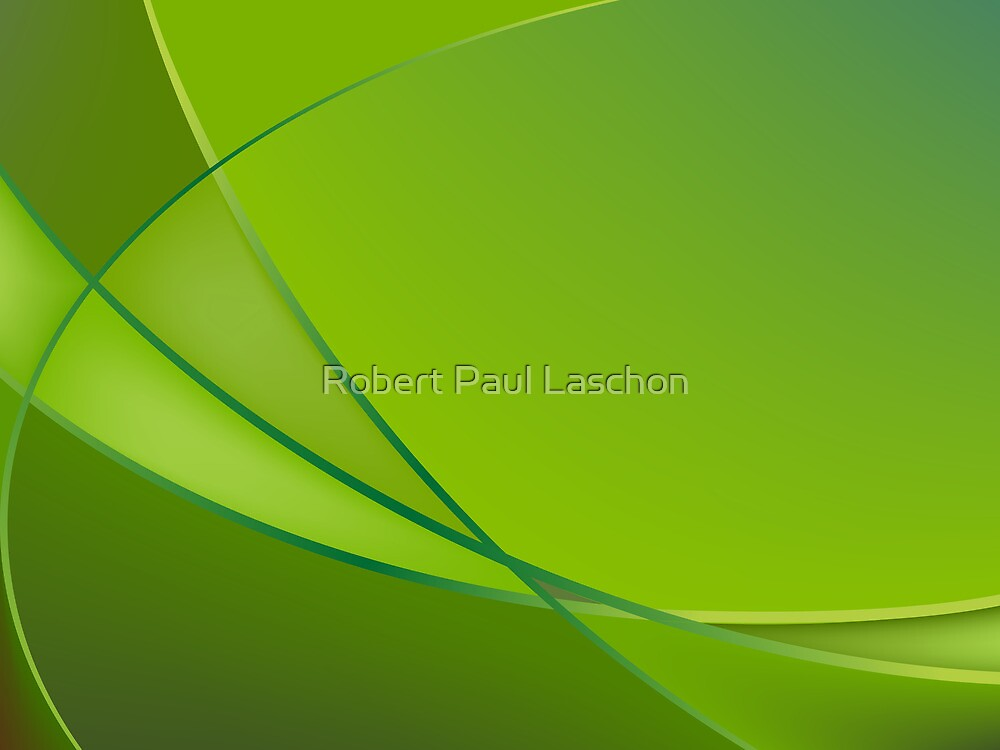 Abstract green background by Laschon Robert Paul