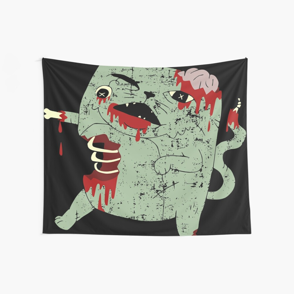 Zombie Cat Wall Tapestry
