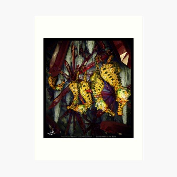 Ocean Invasion #4: Crystal Cave of the Landhorse Art Print
