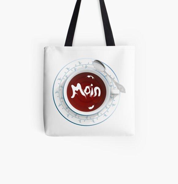 """TEA-Shirt """"Moin"""" Allover-Print Tote Bag"""