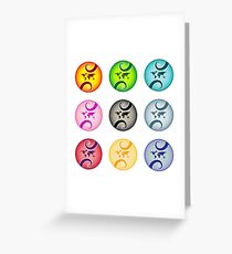 Abstract world map bubbles Greeting Card