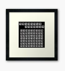 Alphabet buttons collection Framed Print