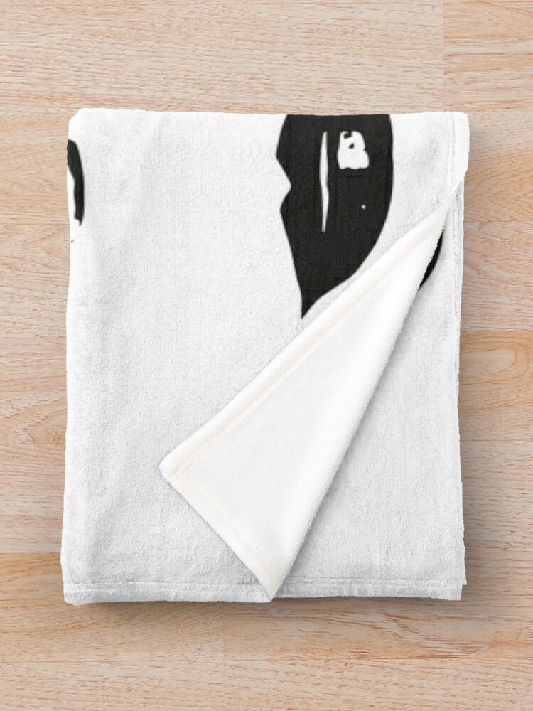 Alternate view of kiss kiss in black and white Throw Blanket