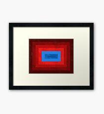 Superman Squared Framed Print