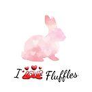 Rabbit: I Love Fluffles! by tribbledesign