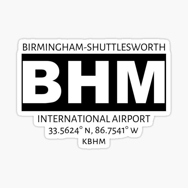 Birmingham-Shuttlesworth International Airport BHM Sticker