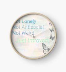 Just an Introvert  Clock