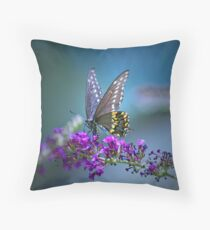 A butterfly's calling me . . . Throw Pillow