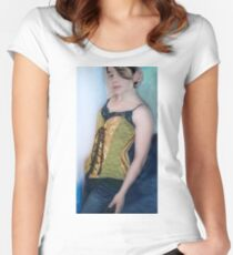 Corset Girl 3 Women's Fitted Scoop T-Shirt