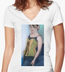 Corset Girl 3 Women's Fitted V-Neck T-Shirt