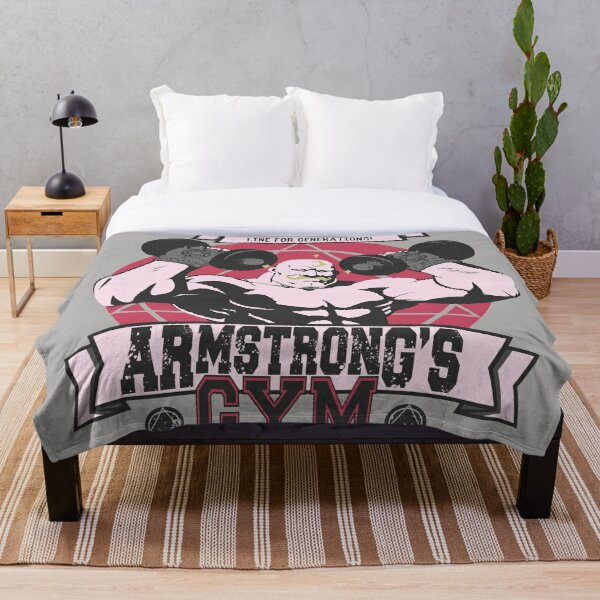 Strong Arm Gym Throw Blanket