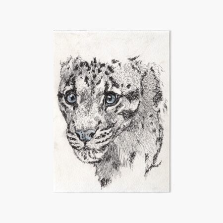 Big Cat Ink Art Board Print