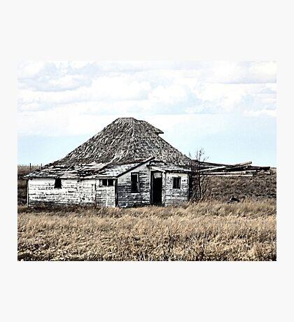 Their Old Prairie Home. Photographic Print