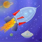 Interstellar Rocketship by elledeegee