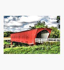 Hogback Covered Bridge, Madison County Iowa Photographic Print