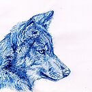 Blue Wolf by Hannah Taylor