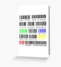 Bar codes Greeting Card