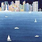 New Yorker Aquarell von VApinx