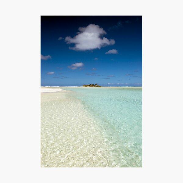 Honeymoon Island - Aitutaki Photographic Print