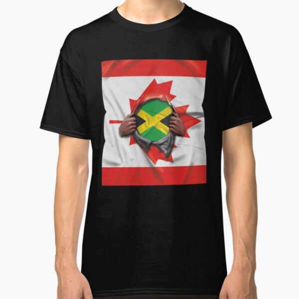 Ripped Jamaican Flag Mens Jamaicia T-Shirt Day Reggae Football Bob Marley Top