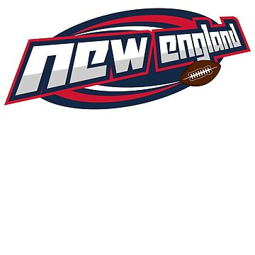 NEW ENGLAND FOOTBALL INSPIRED SLANTED LOGO IN YOUR FAVORITE TEAMS COLORS by NotYourDesign