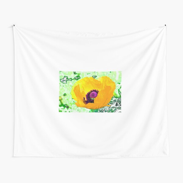 Yellow poppy for spring! Tapestry