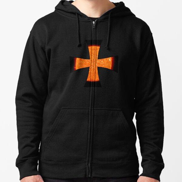 Sun Templar Cross Zipped Hoodie