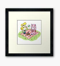 Animal Crossing Isabelle Picnic Framed Print