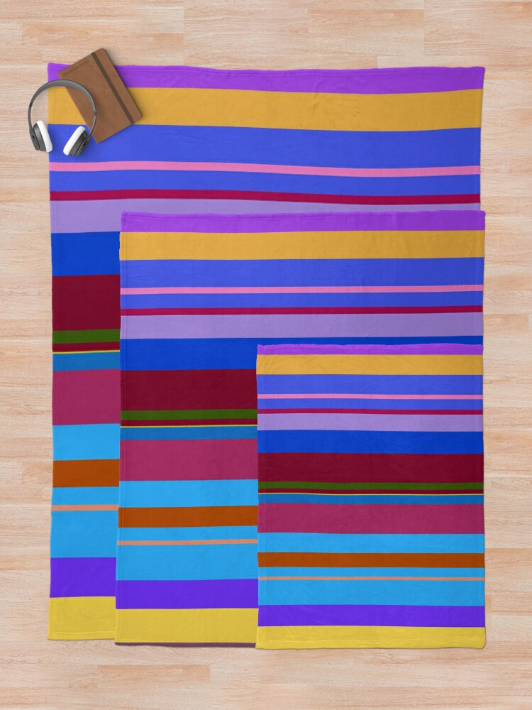 Alternate view of Colorful Lines Throw Blanket