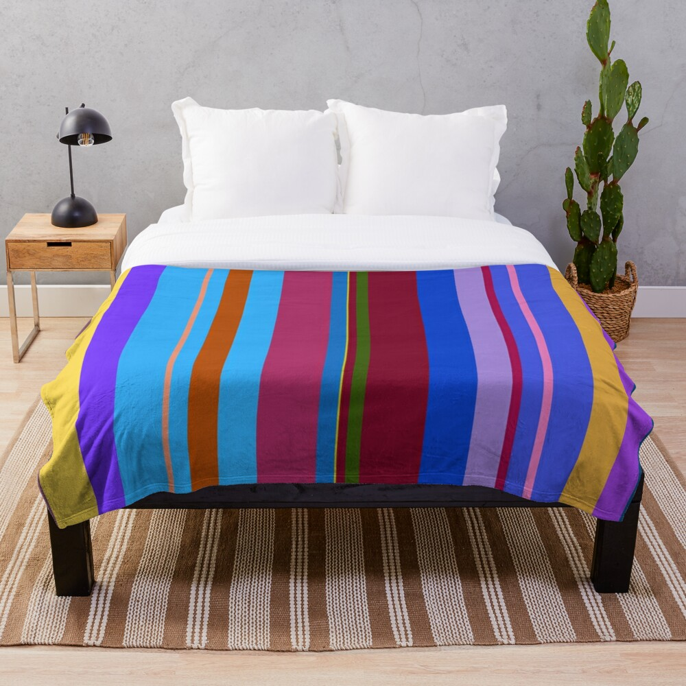 Colorful Lines Throw Blanket