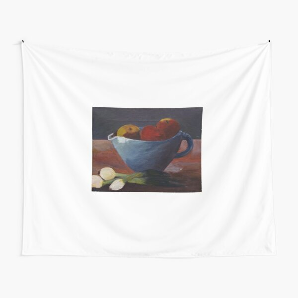 Still life with apples and onions Tapestry