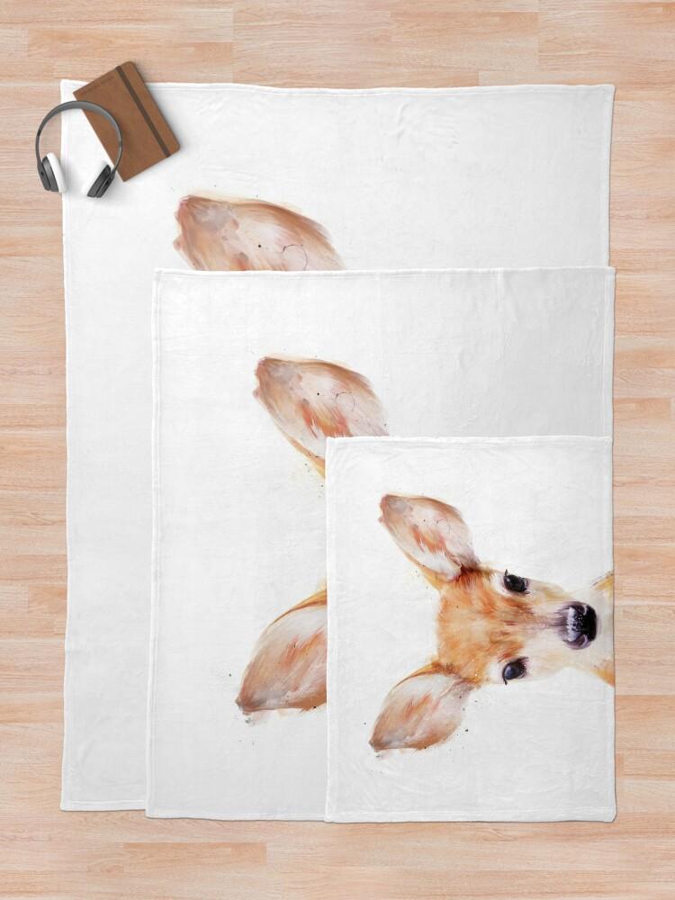 Alternate view of Little Deer Throw Blanket