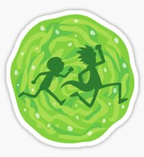 Rick and Morty in the portal Sticker