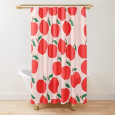 Cute Apple Shower Curtain