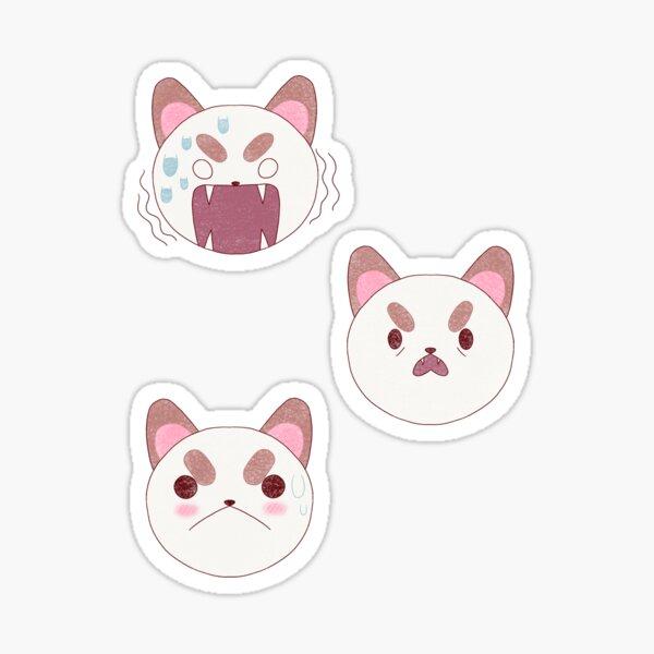 Puppycat Expressions Sticker