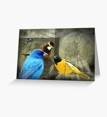 Bunting in the Birdie Bar Greeting Card