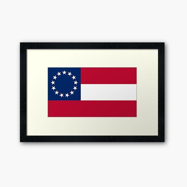 First Confederate Flag Framed Art Print