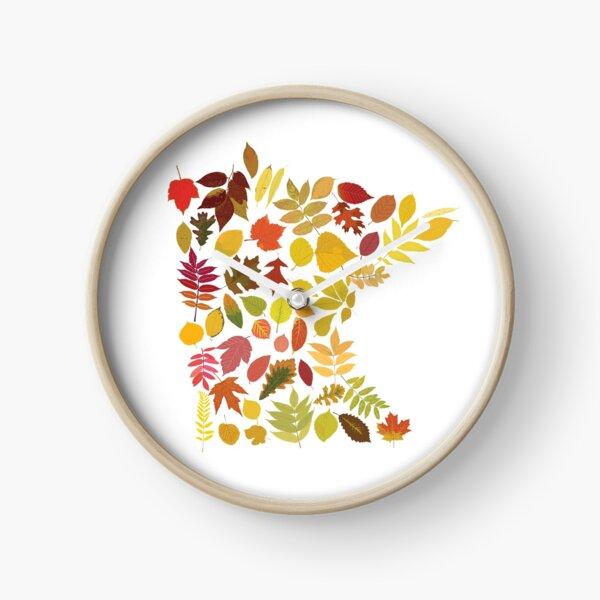 Minnesota Autumn Leaves Clock